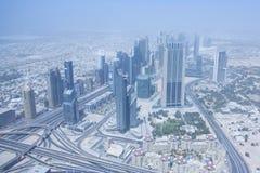 Widok od obserwacja pokładu Burj Kalif Obrazy Stock