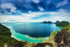 Widok od odgórnej wyspy Fotografia Stock