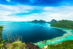 Widok od odgórnej wyspy Fotografia Royalty Free