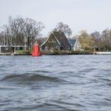Widok od łodzi w Amsterdam Zdjęcie Royalty Free