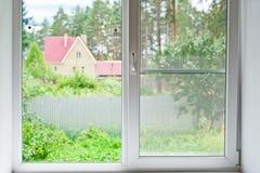 Widok od okno zdjęcie stock