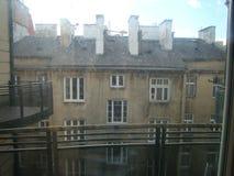 Widok od okno mieszkanie w Warszawa Zdjęcie Royalty Free