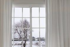 Widok od okno na Obraz Royalty Free