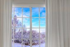 Widok od okno na Zdjęcia Stock