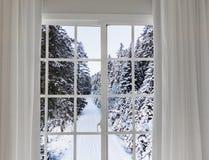 Widok od okno na Obrazy Stock