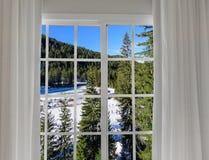 Widok od okno na Obraz Stock