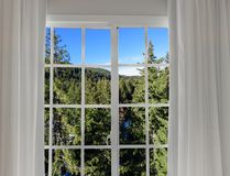 Widok od okno na Obrazy Royalty Free