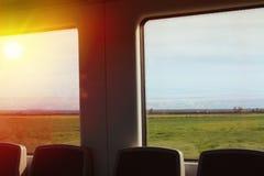 widok od okno pociąg Zdjęcie Royalty Free