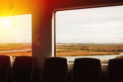 widok od okno pociąg Obraz Royalty Free