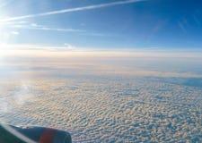 Widok od okno samolot na skrzydle Zdjęcie Royalty Free