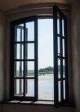Widok od okno stary forteca Obraz Stock