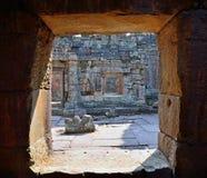 Widok od okno w Angkor Wat Zdjęcia Stock