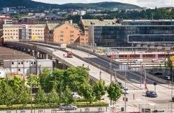 Widok od opery w Oslo, Norwegia Zdjęcie Royalty Free