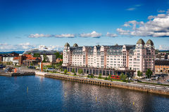 Widok od Oslo opery Zdjęcia Royalty Free
