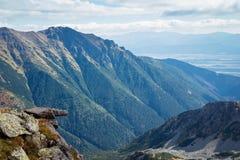 Widok od Ostry Rohac szczytu Obraz Royalty Free