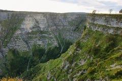 Widok od otaczań narodziny Nerviï ¿ ½ n rzeka, Spain zdjęcie royalty free