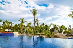 Widok od otwartego baru w Barcelo hotelu, Punta Cana, 02 05 17 Obraz Royalty Free