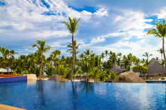 Widok od otwartego baru w Barcelo hotelu, Punta Cana, 02 05 17 Zdjęcia Stock