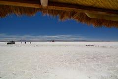 Widok od Palacio De Sal uyuni de Salar potosà dział Boliwia zdjęcie stock