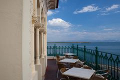 Widok od Palacio de Valle w Cienfuegos, Kuba Zdjęcia Royalty Free