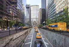 Widok od Park Avenue Uroczysta centrala, NYC Zdjęcie Royalty Free