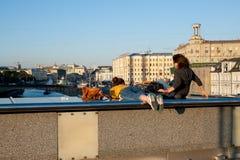 Widok od Patriarsy mosta Zdjęcie Stock
