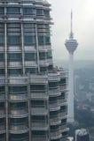 Widok od Petronas bliźniaczych wież Obraz Royalty Free