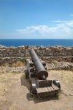 Widok od Platamonas kasztelu, Grecja Zdjęcie Royalty Free