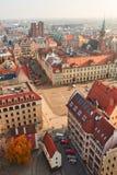 Widok od powietrza stary miasto Zdjęcie Stock