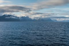 Widok od promu Helligvaer, Bodo, Norwegia Obrazy Royalty Free