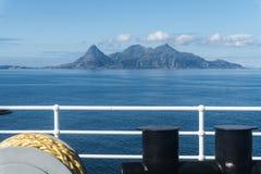 Widok od promu Helligvaer, Bodo, Norwegia Obraz Royalty Free