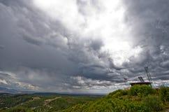 Widok od punktu obserwacyjnego punktu przy mesy Verde parkiem narodowym. Fotografia Stock