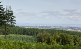 Widok od Quantock wzgórzy Somerset Anglia w kierunku Hinkley punktu obrazy royalty free