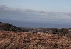 Widok od Quantocks przez ujście Walia, Zdjęcie Royalty Free