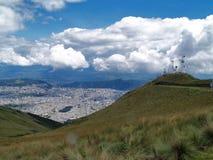 Widok od Quito TeleferiQo zdjęcie stock
