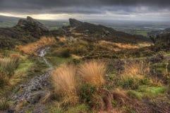 Widok od Ramshaw skał w Szczytowym Gromadzkim park narodowy   fotografia stock