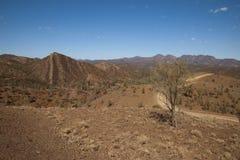 Widok od Razorback punktu obserwacyjnego nad parkiem narodowym i Flinders Rozciąga się obrazy stock