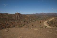 Widok od Razorback punktu obserwacyjnego nad parkiem narodowym i Flinders Rozciąga się obraz royalty free