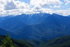 Widok od rogacza parka obozowiska, Olimpijski park narodowy zdjęcie stock