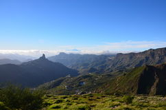 Widok od Roque Nublo Zdjęcia Royalty Free