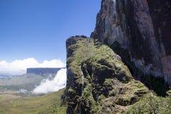 Widok od Roraima Tepui Potrójna granica, Venezu - Stołowa góra - Fotografia Royalty Free