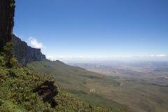 Widok od Roraima Tepui Potrójna granica, Venezu - Stołowa góra - Obraz Royalty Free