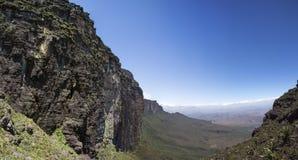 Widok od Roraima Tepui Potrójna granica, Venezu - Stołowa góra - Obrazy Royalty Free