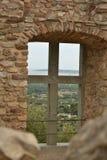 Widok od ruin wieś w Provence Zdjęcie Royalty Free