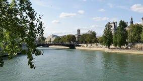 Widok od saint louis wyspy w Paryż, Francja zdjęcie wideo