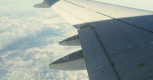 Widok od samolotowego okno zbiory