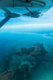 Widok od samolotowego wybrzeża Afryka Zdjęcia Royalty Free
