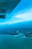 Widok od samolotowego wybrzeża Afryka Zdjęcie Stock