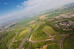 Widok od samolotu Fotografia Stock