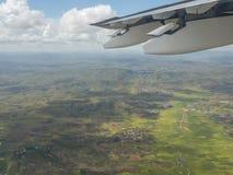 Widok od samolotu na środkowym Madagascar obrazy stock